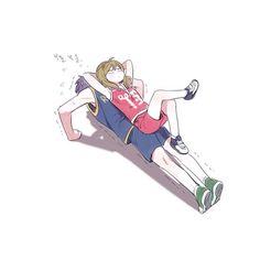 gekkan shoujo nozaki-kun,waka and seo. I can soooo see her doing this.