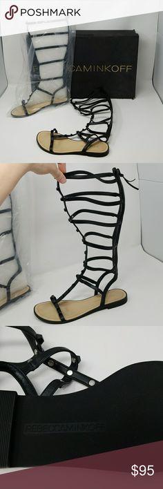 Women's Rebecca Minkoff calf high sandals Brand new.  Size 8 M. Original box slightly damaged.  #060 Rebecca Minkoff Shoes Sandals