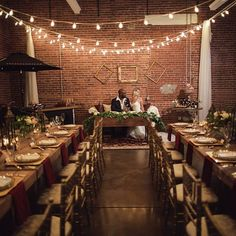 Stringlights for a wedding at The Commons // Photo cred. Calgary Wedding Venues, Best Wedding Venues, Event Venues, Wedding Reception, Wedding Ideas, Brewery Wedding, Places To Get Married, Centre Pieces, Industrial Wedding