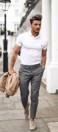 Summer Fashion Business casual men Men's Fashion - New Site - Mens Fashion Blog, Fashion Mode, Mens Fashion Suits, Fashion 2018, Style Fashion, Mens Smart Casual Fashion, Mens Suits, Fashion Ideas, Fashion Outfits
