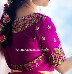 Pattu Half Sarees For Blouse Designs - South India Fashion . - Pattu Half Sarees For Blouse Designs – South India Fashion pattu lehenga blo - New Saree Blouse Designs, Blouse Designs High Neck, Best Blouse Designs, Hand Work Blouse Design, Simple Blouse Designs, Stylish Blouse Design, Bridal Blouse Designs, Sumo, Designer Blouse Patterns