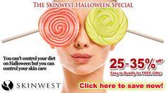 Halloween skincare ad.