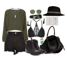 """""""remember everything will be alright"""" by alicemsrose ❤ liked on Polyvore featuring River Island, Topshop, Yves Saint Laurent, Wet Seal, Givenchy, Golden Goose, Ray-Ban, MAC Cosmetics, Chanel and Random House"""