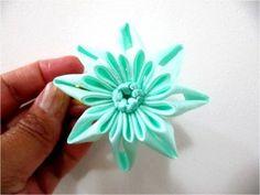 Moños flores estrellas en cintas para el cabello calados y dobleces - YouTube