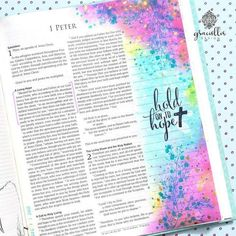 Living Hope: Bible Journaling Page with Unity Stamps Co. New Bible, Faith Bible, Bible Art, Bible Study Journal, Art Journaling, Cute Bibles, Bibel Journal, Bible Doodling, Bible Illustrations