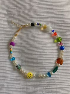 Handmade Wire Jewelry, Beaded Jewelry Designs, Funky Jewelry, Bead Jewellery, Cute Jewelry, Jewelry Accessories, Diy Necklace, Necklaces, Bijoux Diy