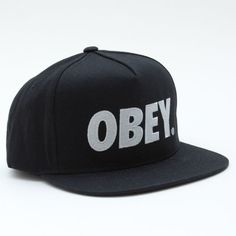 Obey Clothing Snapback The City Black