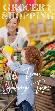 Here are six simple tips to save time grocery shopping - and they are really easy and work! www.spoilmyfamily.com