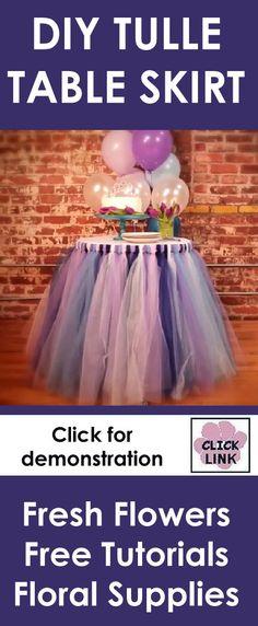 Diy Tutu Tableskirt See More Wedding Flowers And Reception Ideas