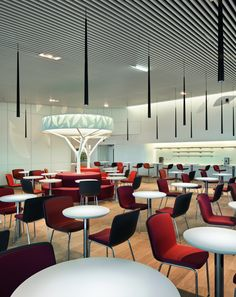 modern lighting Air France Business Lounge by Noé Duchaufour-Lawrance and Brandimage