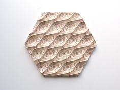 Wooden Trivet Hexagonal Points - Objects By Medio