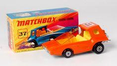 Lot 2331 - Matchbox Superfast, No.37 Soopa Coopa, rare orange body with yellow interior AG,SB Jaffa Mobile