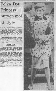 Memories Of Diana : Arrival in Victoria in British Columbia in Canada - For Start Of 8 Day Royal Visit - April 30th 1986