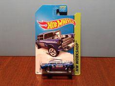 Hot Wheels '55 Chevy Bel Air Gasser #241 of 250 HW Performance 2014 Blue 1955 #HotWheels #Chevrolet