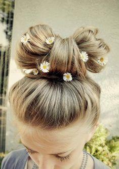 flower bow bun