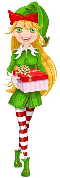 Christmas Elf Transparent PNG Clip Art Image