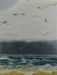 On the wings of the storm  #Acrylic #StIves #Cornwall