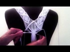 DIY Macramé Fringe Top. This could be sewn to the front of a top to add character.m