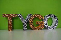 Letters dierenkamer