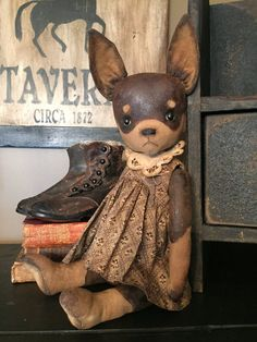 VIVIAN CHIHAUHAU  PUPPY by VillagePrimitivesbyM on Etsy