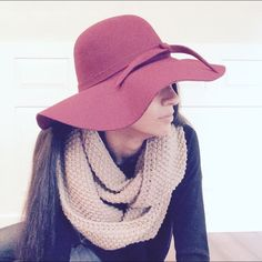 Wine colored floppy hat. Beautiful hat in perfect condition. Brand new! Accessories Hats
