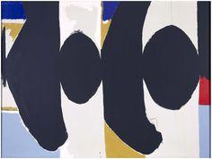 """Threatening Presence (Elegy to the Spanish Republic CIII),"" 1965, Robert Motherwell. Oil on canvas; 175,2 x 233,6 cm. Museo Nacional Centro de Arte Reina Sofía, Madrid."