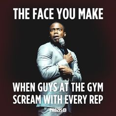 Fit facts. The face you make when guys at the gym scream with every rep. LOL Fitness funny #humour #ExceedYourself #Prozis