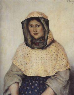 woman Василий Суриков. Галерея живописи. Портрет Т.К.Доможиловой. 1891