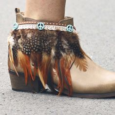 Feather Boot Belt & CowGirl Booties - Ibiza Musthaves Available @ www.myFavouriteMusthaves.com