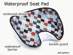 Waterproof Car Seat Pad - immediate download of pdf sewing pattern by patternplay on Etsy https://www.etsy.com/listing/96147862/waterproof-car-seat-pad-immediate