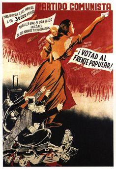 Manuela ballester, Votad la Frente Popular, 1936.