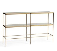 Leona Console Table - Pottery Barn w x d x h Entryway Furniture, Furniture Upholstery, Living Room Furniture, Entryway Tables, Furniture Stores, Furniture Buyers, Media Furniture, Eclectic Furniture, Living Room Storage