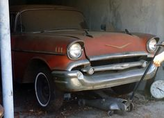 Fuelie 1957 Chevy Bel Air Barn Find - http://barnfinds.com/fuelie-1957-chevy-bel-air-barn-find/