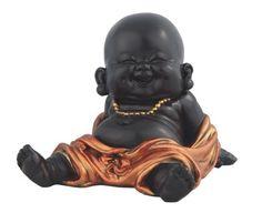 Little Buddhist Monk in Golden/Black Statue Buddhism Eastern Decor Figurine Baby Buddha, Little Buddha, Buddha Zen, Gautama Buddha, Small Buddha Statue, Buddha Statues, Buddha Kunst, Buddha Decor, Japanese Drawings
