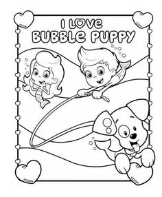 Bubble Guppies I Love Puppy Coloring Pack