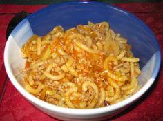 Foto Rezept Gabeleintopf mit Nudeln, Hackfleisch und Lauch