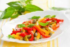 Grilled Red Pepper Salad.