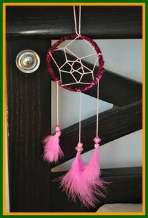 Keep the nightmares away with these home-made dream catchers.