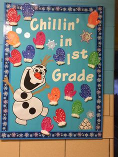 Cute January bulletin board!