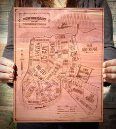 New Orleans Wood Map | Art Pieces | Neighborwoods | Scoutmob Shoppe | Product Detail