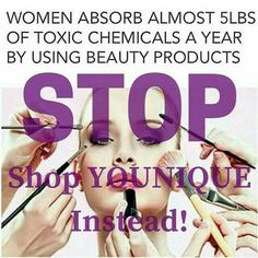 Think about what you put on your face gals!