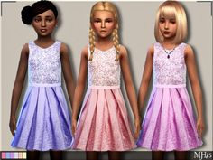 Sims Addictions: Sparkle Dress by Margies Sims • Sims 4 Downloads Check more at http://sims4downloads.net/the-sims-resource-sparkle-dress-by-margies-sims/