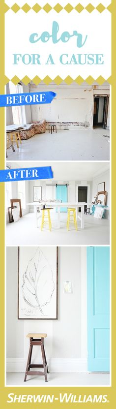 Before and After Loft Workspace With National Painting Week - Thistlewood Farm Thistlewood Farms, Spring Painting, Home Improvement Projects, Sunlight, Color Inspiration, Color Pop, Crisp, Backdrops, Cancer