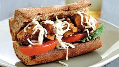 "Jessica Seinfeld's Balsamic Chicken Sandwich: ""Everything I cook is based on how my family likes to eat—and first and foremost, how my husband likes to eat. Once, on a trip to Italy, Jerry had a sandwich he loved so much he didn't stop talking about it for years. And I thought, ""I have to figure out how to make that!"" So I experimented for a while. But when I hit it, I hit it hard. Jerry was thrilled."""