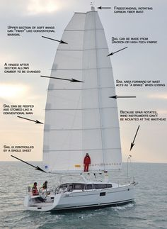 Undoubtedly because of the Cup, which made wingsails a common sight, there is now more understanding of the concept among sailors. Inefficient triangle sails might see some competition in the future where sporting one or two elliptical wings will be a common sight for cruising boats.