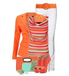 Оранжевый цвет в одежде - сочетания цветов