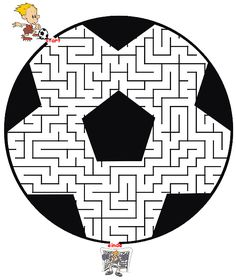 This soccer maze shaped like a soccer ball is a terrific free printable worksheet for kids who love soccer and mazes. Kids Sports Party, Soccer Party, Soccer Ball, Mazes For Kids, Worksheets For Kids, Theme Sport, Olympic Crafts, Maze Worksheet, Maze Puzzles