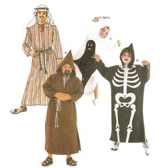 Ghost Skeleton Monk Arabian Kids Fancy Dress Costume Pattern Burda Patterns, Costume Patterns, Print Patterns, Fancy Dress For Kids, Kids Dress Up, Vintage Costumes, Headpiece, Skeleton, My Etsy Shop