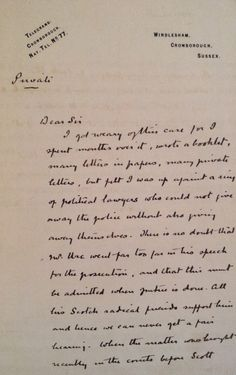 Conan Doyle's letter.