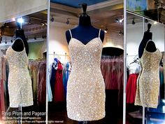 Gold Short Homecoming Dress